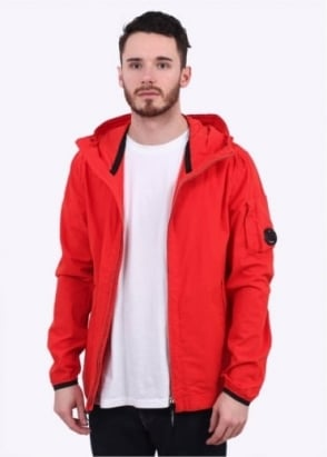 C.P. Company Giubinno 50-Fili Hooded Watchviewer Jacket - Bright Red