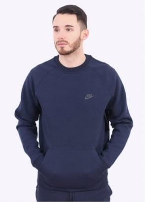 Nike Apparel Tech Fleece Crew Sweater - Obsidian