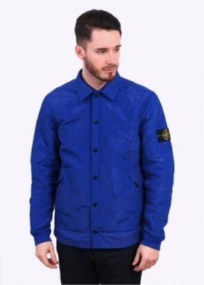 Stone Island Nylon Metal Overshirt - Bright Blue