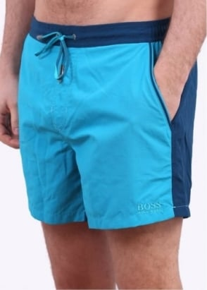 Hugo Boss Snapper Shorts - Open Blue
