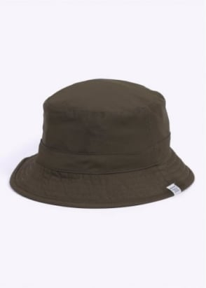 Norse Projects Reversible Light Ripstop Bucket Hat - Dried Olive / Navy