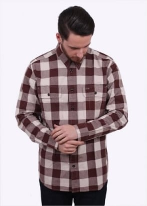 Filson Lightweight Kitsap Work Shirt - Dark Burgundy
