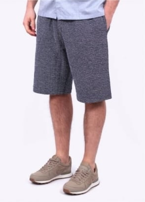 Sunspel Reverse Loopback Shorts - Navy