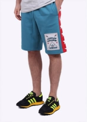 Adidas Originals Apparel Rowing Art Shorts - Blue