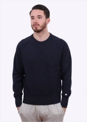 Champion x Todd Snyder Pocket Sweater - Navy Blue