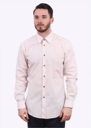 Vivienne Westwood Mens Classic Firm Poplin Shirt - Powder