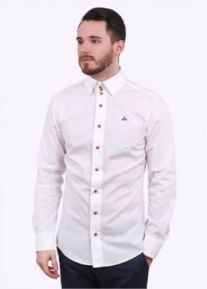 Vivienne Westwood Mens Krall Stretch Shirt - White