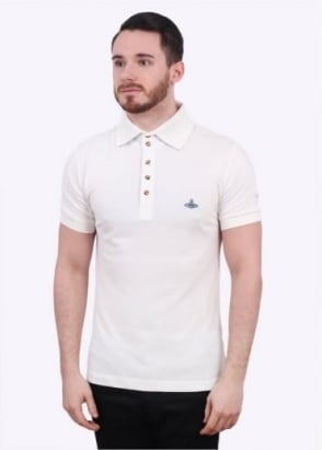 Vivienne Westwood Mens Basic Classic Polo Shirt - White