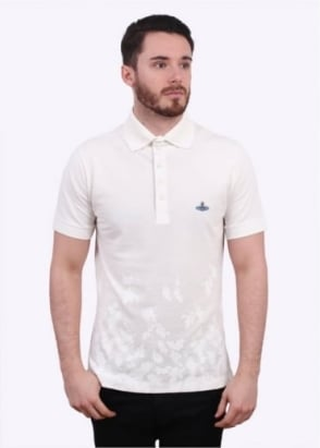 Vivienne Westwood Mens Absense Of Roses Polo Shirt - White
