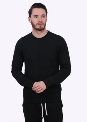 Reigning Champ Terry Crew Neck Sweater - Black