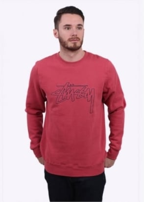 Stussy Stock Outline Sweater - Salmon