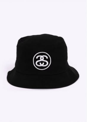 Stussy SS Link Bucket Hat - Black
