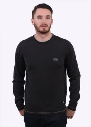 Hugo Boss Green Rime Sweater - Charcoal