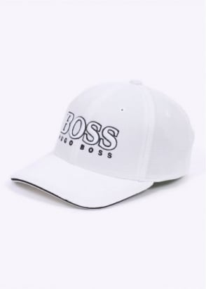 Hugo Boss Green Cap US - White