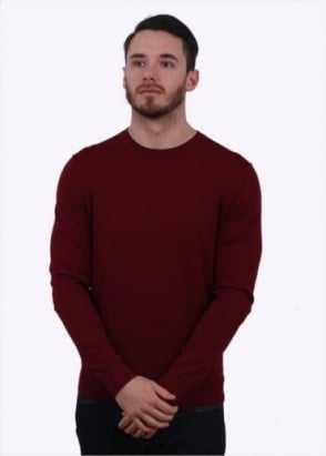Paul Smith Crew Sweater - Burgundy