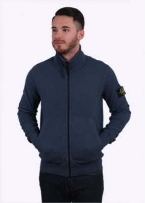 Stone Island Zip Sweatshirt - Dark Blue