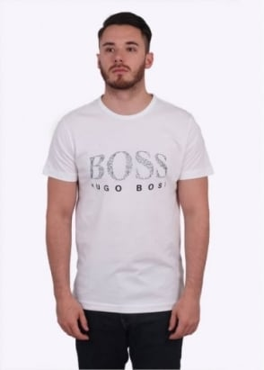 Hugo Boss Green Tee 6 - White