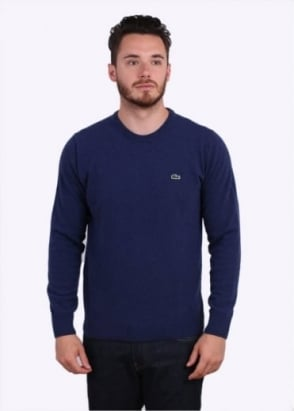 Lacoste Crew Sweater - Waterfall Blue
