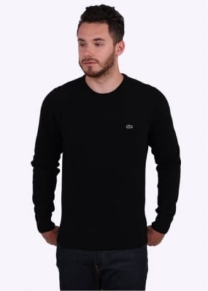 Lacoste Crew Sweater - Black