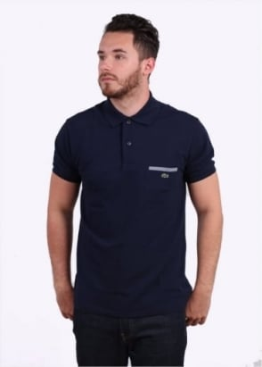 Lacoste SS Pocket Polo - Navy