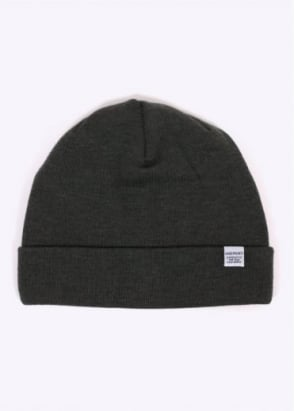 Norse Projects Top Beanie - Dried Olive