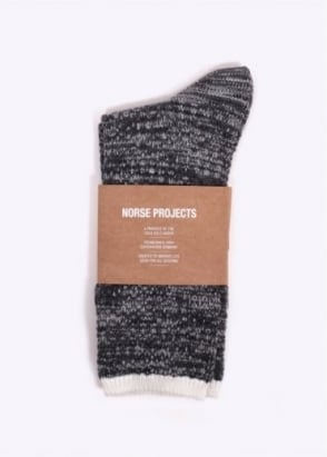 Norse Projects Bjarki Blend Socks - Mouse Grey