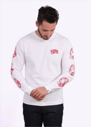 Billionaire Boys Club Helmet Print LS Tee - White
