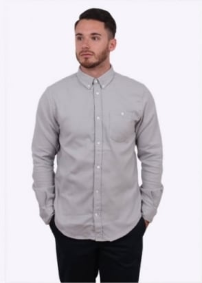 Norse Projects Osvald Brushed Shirt - Light Grey