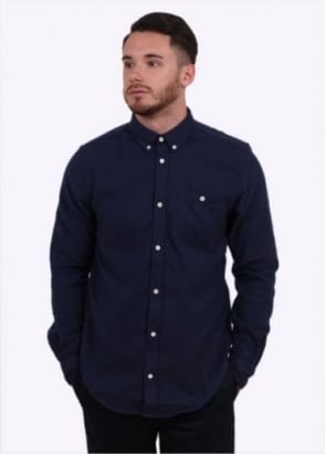 Norse Projects Osvald Brushed Shirt - Navy
