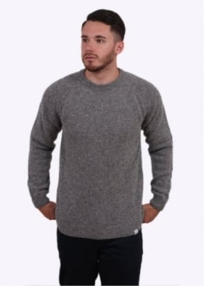 Norse Projects Birnir Shetland Sweater - Mouse Grey