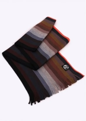 Paul Smith Gradient Scarf - Black / Multi