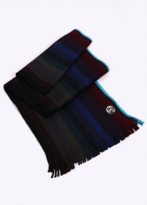 Paul Smith Gradient Scarf - Navy / Multi