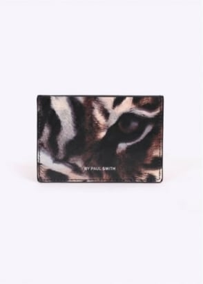 Paul Smith Tiger Print Card Holder - Black / Multi