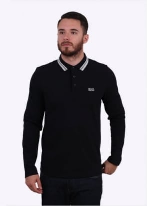Hugo Boss Green Plisy Polo Shirt - Black