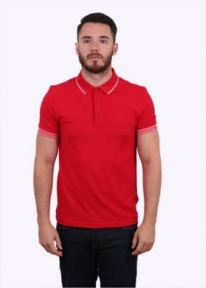 Hugo Boss Paule Polo Shirt - Medium Red