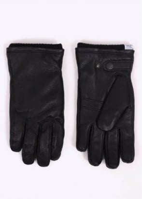 Norse Projects x Hestra Utsjo Leather Gloves - Black