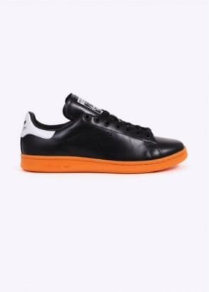 Adidas Originals X Raf Simons Stan Smith - Black/Bright Orange