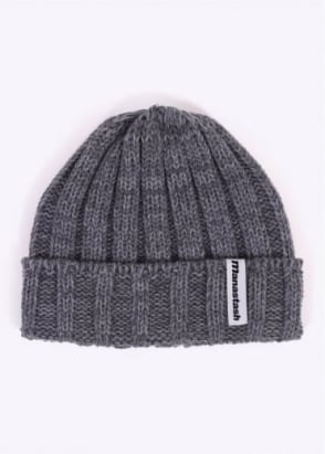 Manastash 90's Logo Beanie - Ox Grey