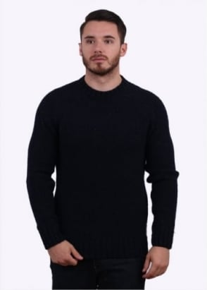 Barbour Patch Crew Sweater - Navy