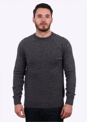 Barbour Staple Crew Jumper - Charcoal