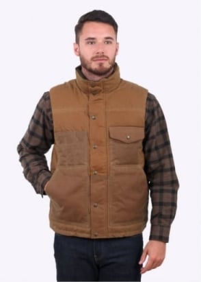 Filson Down Cruiser Vest - Dark Tan