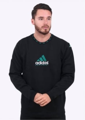 Adidas Originals Apparel EQT Crew Sweater - Black