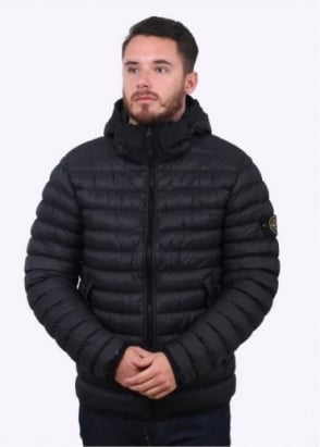 Stone Island Micro Yarn Down Jacket - Black