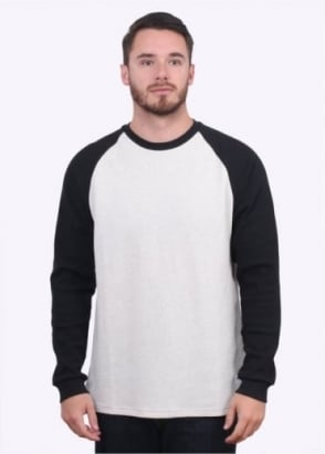 Carhartt Long Sleeve Contrast Waffle T-Shirt - Snow Heather