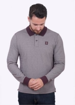 C.P. Company Trim Polo Shirt - Burgundy