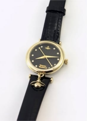Vivienne Westwood Ladies Watches Orb II Watch Black/Gold