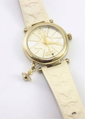 Vivienne Westwood Ladies Watches Orb II Watch Cream/Gold