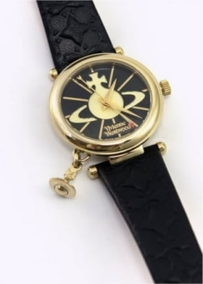 Vivienne Westwood Ladies Watches Trafalgar Watch Black/Gold