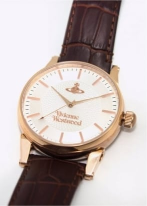 Vivienne Westwood Mens Watches Finsbury Watch Brown/Rose