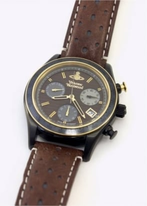 Vivienne Westwood Mens Watches Sotherby Chronograph Watch Brown